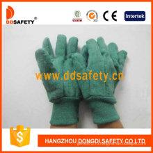 Золотой зеленый муторно Перчаточные трикотажные запястье перчатки безопасности (DCD104)