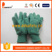 Golden Green Chore guantes tejidos muñeca guantes de seguridad Dcd104