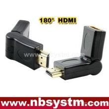 Tourner un adaptateur HDMI à 180 degrés Un type mâle à femelle