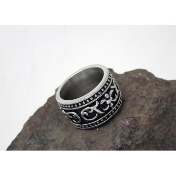 Fashion Jewellery Punk Style Titanium Steel Metal Men Rings