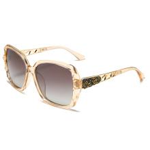 2020 Ladies Sunglasses Gradient Half Metal Spectacles UV400 Custom Logo New Plastic Fashion  87026