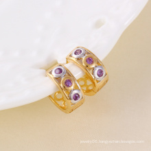 Elegant Zircon Circle Fashion Earring (24302)