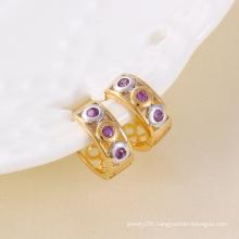 Elegant Zircon Circle Fashion Earring (24302)