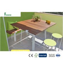 Diseño italiano WPC impermeable compuesto Banco y mesa