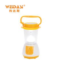 lâmpada de mão solar interna ao ar livre recarregável ajustável do brilho da China