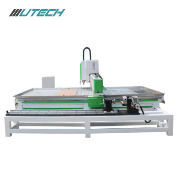 Aluminium Stone Cnc Router Processing Med Rotary System