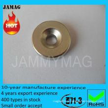 Ímãs D20X3mm com furo de pia de 5mm