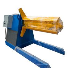 Fabrication pont decoiler métal tôle d'acier bobine decoiling automatique feuille decoiler machine
