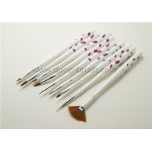 Vente en gros d'ongles en acrylique Nail Art Brush Set 9 Pieces
