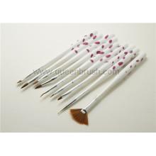 Atacado Nail Tools Acrílico Nail Art Brush Set 9 Peças