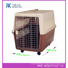 Plastic Handle Pet Carrier on Wheels, Walking Pet Carrier