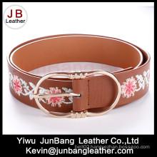 Fashion Women′s PU Embroiders Belts