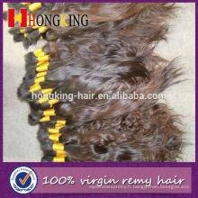 Cheveux en vrac ondulés de cheveux humains européens de Vierge