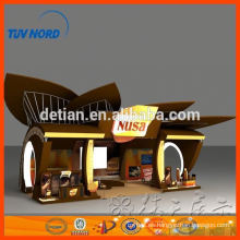 decoración de exhibición de cabina de exhibición de alquiler de Shanghai 6m * 6m