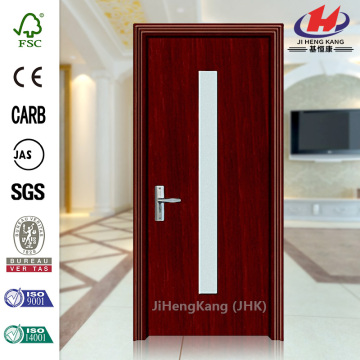 Plastic PVC Bathroom Glass Panel Interior Door