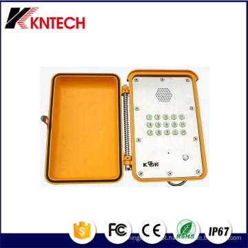 Telefones de serviço pesado com painel de aço inoxidável Handfree Knsp-13 Kntech