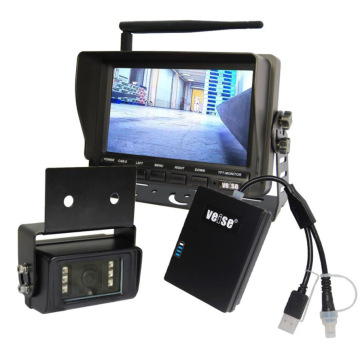 """Ahd Forklift Camera View with Wireless Stainless Steel Camera 7"""" Wireless Monitor"""