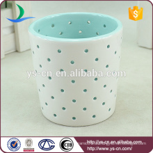 Blue Cutout Keramik Kerzenständer für Geburtstag