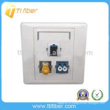 3-портовая гибридная волоконно-оптическая лицевая панель SC-ST-LC / настенная панель