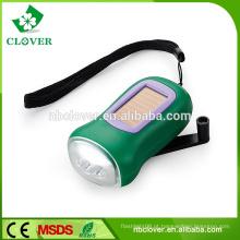 Novo design ABS material dinamo 3 LED mini manivela lanterna