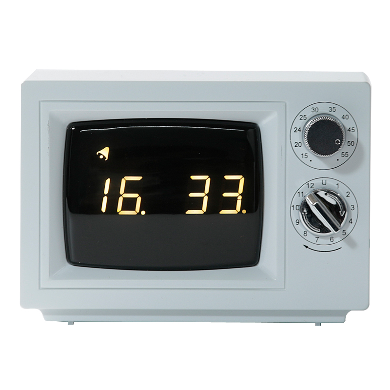 Lexon Flipping Alarm Clock White