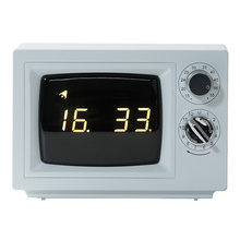 Digital Small TV Clock with Light White
