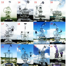 Meilleures ventes 15 pouces 5mm Epaisseur Bigger Handblown Glass Smoking Water Pipe
