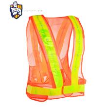 led reflective cycling vest gilet led safety signal vest