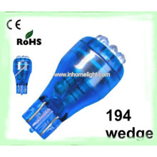 Led car lighting 5mm led auto bulbs T10