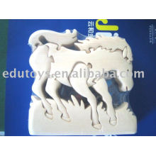3D Toys Horse,Montessori Wooden DIY Toys