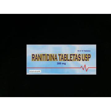 BP/USP de ranitidina tableta 300mg