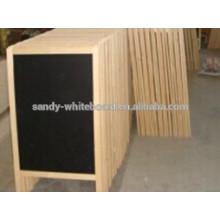 Placa de giz de madeira A-frame