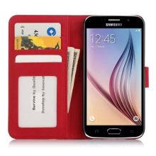 Cas de cuir de téléphone portable PU pour Samsung S6 (SS-00100)