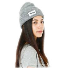 Heißer verkaufender gestrickter Beanie Hat Grey Farbe
