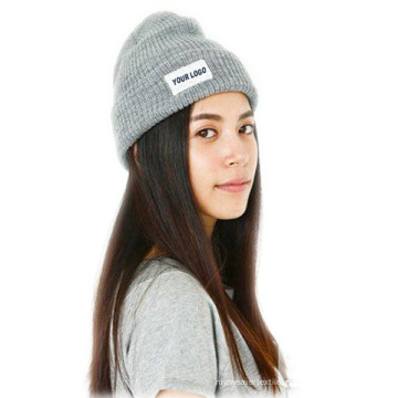 Venda quente de malha Beanie Hat cor cinza