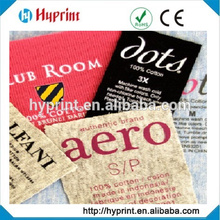 heat transfer label for clothing, size label, content label, care label