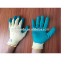 polycotton knitted gloves coated with latex palm,10 gauge 2 threads