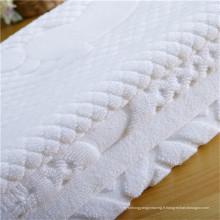 Serviette blanche Toile à main Serviette d'hôtel en coton