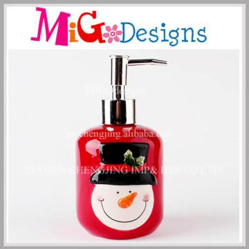 Home Creations Christmas Theme Bouteille de pompe à lotions en céramique