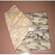 Chnese chinchilla rabbit belly fur plate