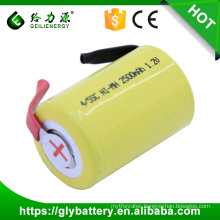 ni-mh rachargeable 4/5 SC 1200mah 1.2v battery