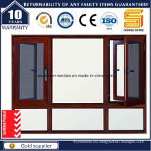 Parrilla de ventana simple fijada del hierro / ventana de aluminio del marco