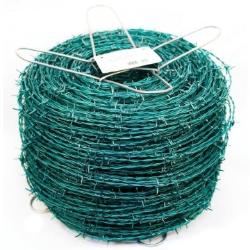 Pengukur PVC Coated Barbed Wire 12