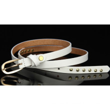 Casual leather belt with rivet for lady