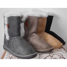 Fashion Design And Side Binding Ladies Snow Boots