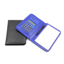 PVC Notebook Calculator with Leather Case and Pen