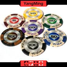 Microplaquetas européias do póquer da argila (YM-CY01)
