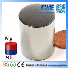 Strong N52 D25.4X38.1mm Cylinder Neodymium Magnet