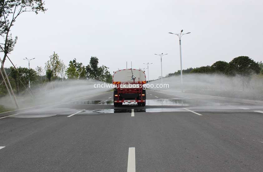 water tank truck in action 3