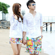 Beach Short with Fashion Design Beach Shorts, Leisure, Colorful and Embroidery
